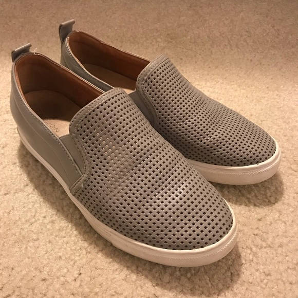 Caslon Shoes | Grey Slip On Sneakers